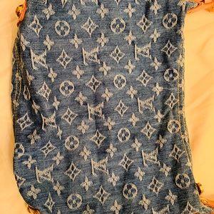Louis Vuitton Bags - LOUIS VUITTON Blue Denim Monogram Denim Baggy PM